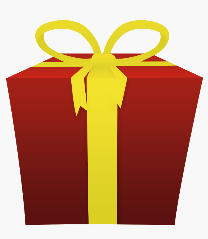 Gift Card: Red And Yellow