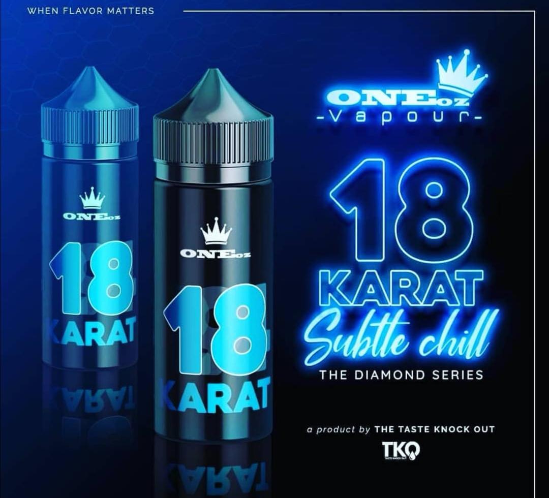 One Oz Vapour 18 Karat Diamond Series | 100ml 3mg